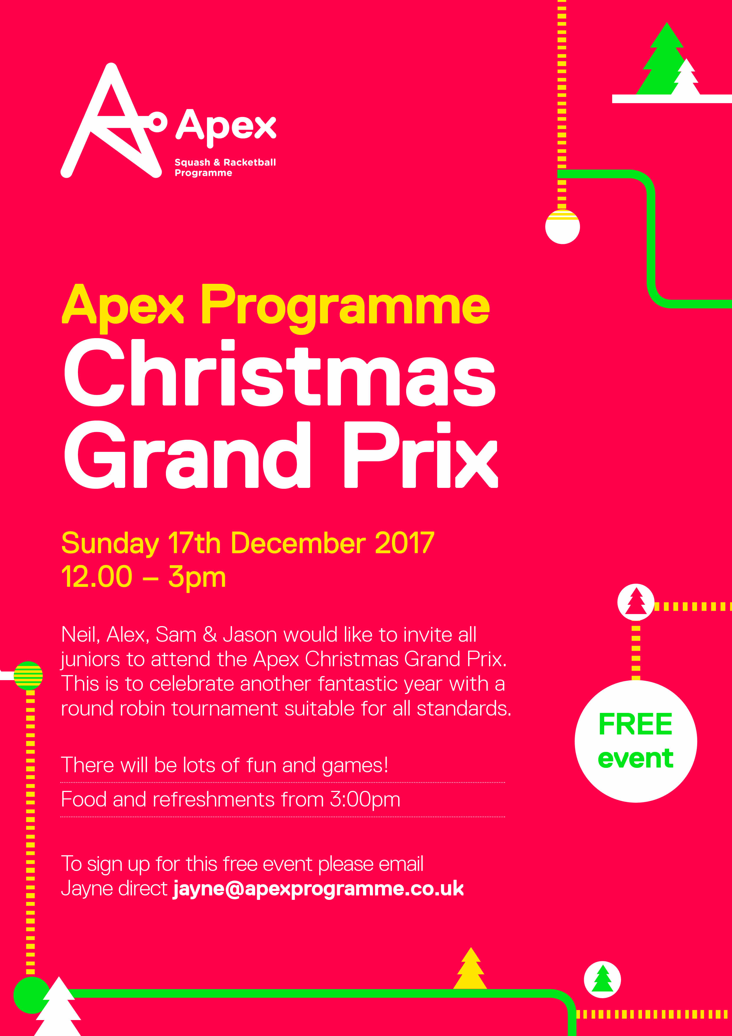 Junior christmas tournament party events apex apex christmas party poster stopboris Image collections
